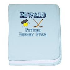 Edward - Future Hockey Star baby blanket