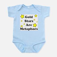 Gold Stars are Metaphors Infant Bodysuit