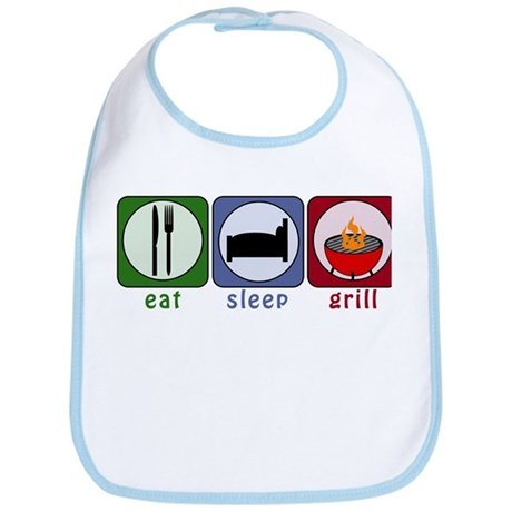Eat Sleep Grill Bib