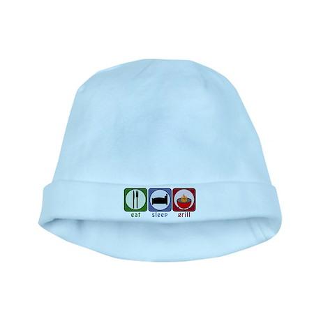 Eat Sleep Grill baby hat