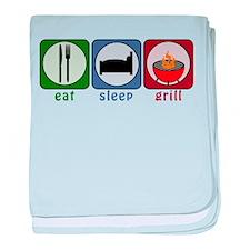 Eat Sleep Grill baby blanket