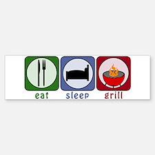 Eat Sleep Grill Sticker (Bumper)