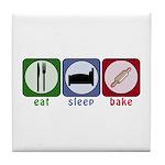 Eat Sleep Bake Tile Coaster