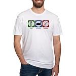 Eat Sleep Bake Fitted T-Shirt