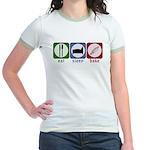 Eat Sleep Bake Jr. Ringer T-Shirt
