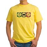 Eat Sleep Bake Yellow T-Shirt