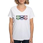 Eat Sleep Bake Women's V-Neck T-Shirt