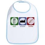 Eat Sleep Bake Bib