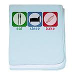 Eat Sleep Bake baby blanket