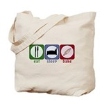 Eat Sleep Bake Tote Bag