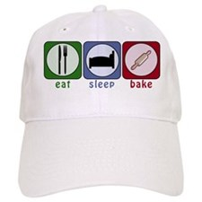 Eat Sleep Bake Baseball Cap
