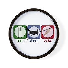 Eat Sleep Bake Wall Clock