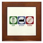 Eat Sleep Bake Framed Tile