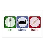 Eat Sleep Bake Postcards (Package of 8)