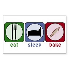 Eat Sleep Bake Decal