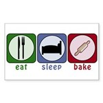 Eat Sleep Bake Sticker (Rectangle 10 pk)
