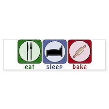 Eat Sleep Bake Bumper Sticker