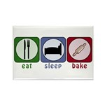 Eat Sleep Bake Rectangle Magnet (100 pack)