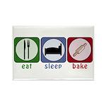 Eat Sleep Bake Rectangle Magnet (10 pack)