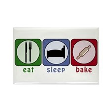 Eat Sleep Bake Rectangle Magnet