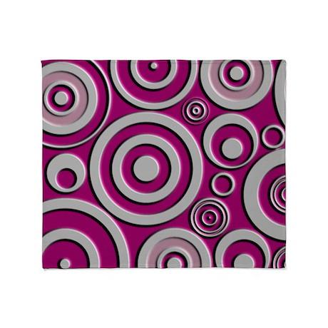 Pink Circles Throw Blanket