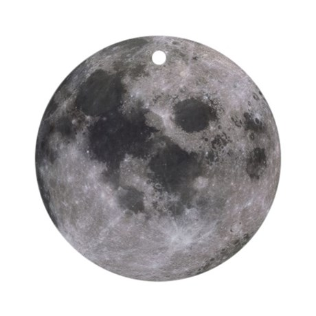 Moon Ornament (Round)