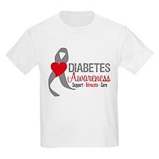Diabetes Heart Ribbon T-Shirt