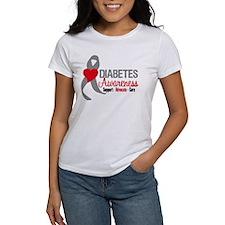 Diabetes Heart Ribbon Tee