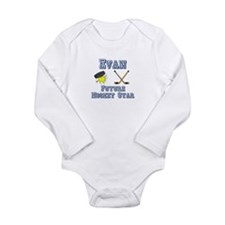 Evan - Future Hockey Star Long Sleeve Infant Bodys