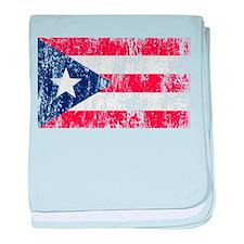 Puerto Rican Pride Flag baby blanket