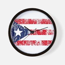 Puerto Rican Pride Flag Wall Clock