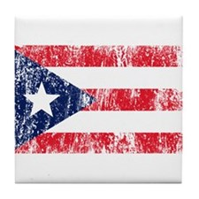 Puerto Rican Pride Flag Tile Coaster