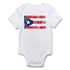 Puerto Rican Pride Flag Infant Bodysuit