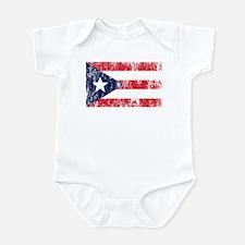 Puerto Rican Pride Flag Infant Bodysuit