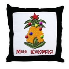 mele kalikimaka Throw Pillow