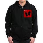iBake Red Zip Hoodie (dark)