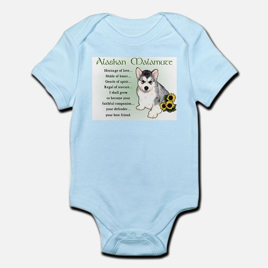 Alaskan Malamute Puppy Infant Bodysuit