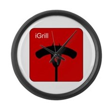 iGrill Red Large Wall Clock