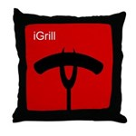 iGrill Red Throw Pillow