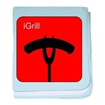 iGrill Red baby blanket