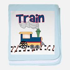 Train baby blanket
