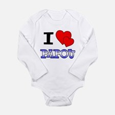 I Love Papou Long Sleeve Infant Bodysuit