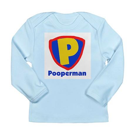 Pooperman Long Sleeve Infant T-Shirt