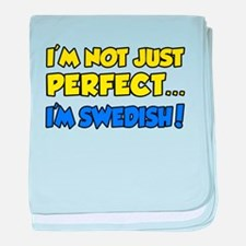 Not Just Perfect...Swedish baby blanket