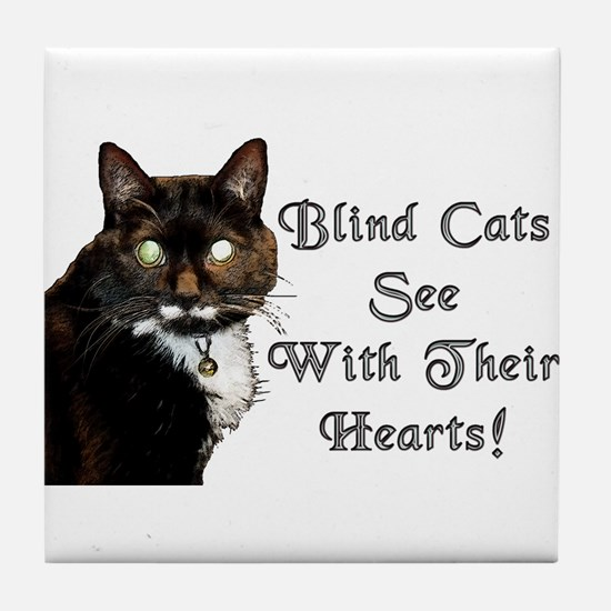 Blind Cats See Tile Coaster