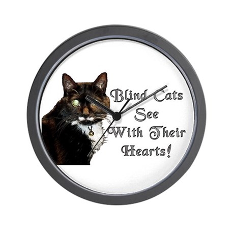 Blind Cats See Wall Clock