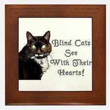 Blind Cats See Framed Tile