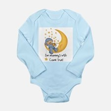 Blue Wish Come True Long Sleeve Infant Bodysuit
