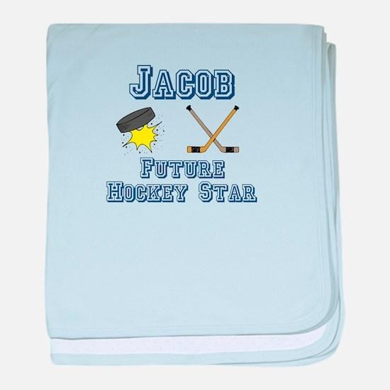 Jacob - Future Hockey Star baby blanket