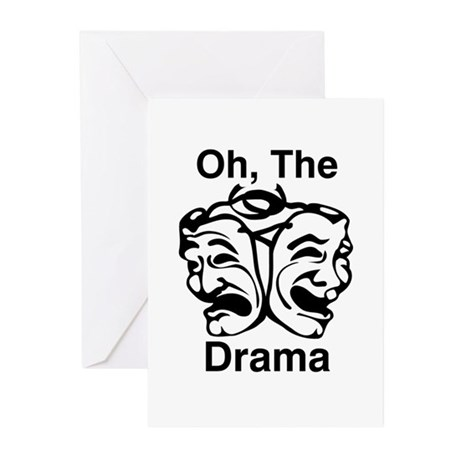 Oh, The Drama Greeting Cards (Pk of 10)